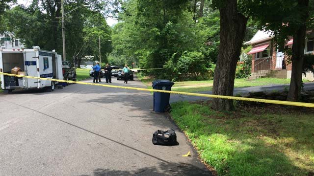 A police investigation is underway on Lima and Peru streets in Willimantic. (WFSB)