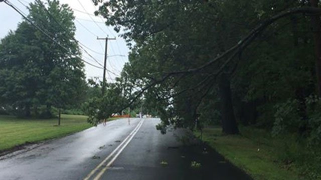 Newberry Road and Church Street have been closed to traffic. (East Windsor Police Department)