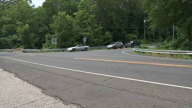 A bicyclist was seriously injured after being hit by a car in Seymour on Wednesday (WFSB)