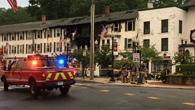 Ten families were displaced after a fire in downtown Bethel (WFSB).