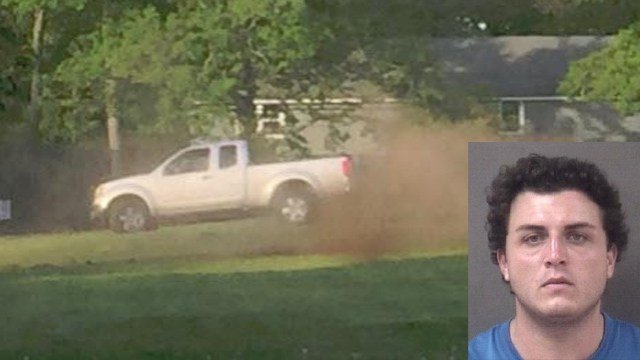 William Varnum was arrested for doing donuts at a beach association in Milford, according to police. (Milford police)