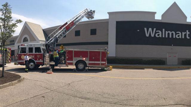 The Walmart in Lisbon was evacuated on Thursday. (@QVEC911