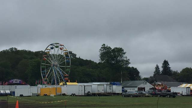 A person was struck by lightning at the fairgrounds in North Stonington on Thursday (WFSB)
