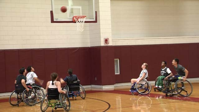 Wheelchair basketball camp gives children the chance to shoot hoops (WFSB)