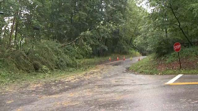Weston was hit hard by the storms on Thursday (WFSB)