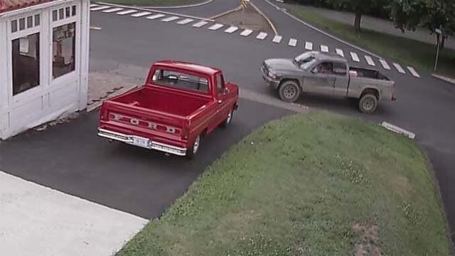 Police are looking for the suspects who stole a red pick up truck from East Windsor (East Windsor PD)