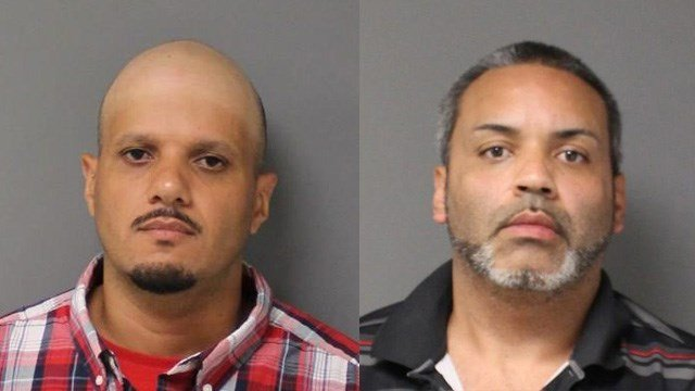 Alfredo Claudio and Hector Arocho were arrested following a pursuit that started in Somers, went into Massachusetts, and ended back in Connecticut. (State police)