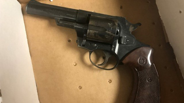A loaded .38 special revolver was found in the suspects' car. (State police)