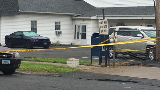 Powder was found under a mailbox in Terryville on Friday. (WFSB)