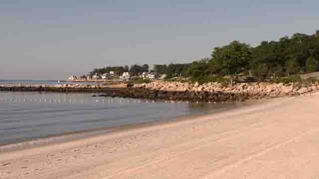 Rocky Neck's swimming area was one of four that were closed this weekend due to high bacteria levels (WFSB)