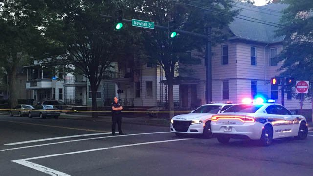 New Haven police continue to search for a passenger in a drive-by shooting that injured a 14-year-old boy. (WFSB)