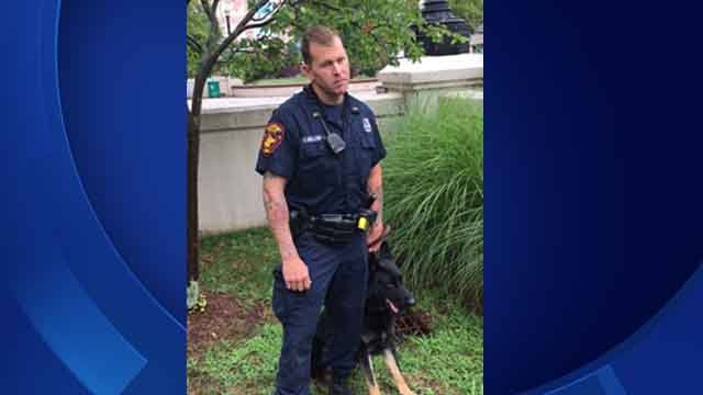 Officer Ryan Mullenax and his K9 Zeus (Bridgeport Police Dept.)