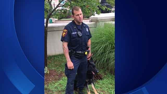 Officer Ryan Mullenax and his K9 Zeus (Bridgeport Police Dept.)