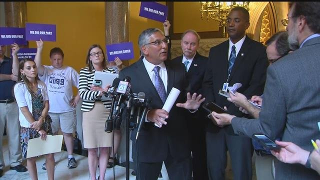 Sen. Len Fasano discusses state labor concessions amid Connecticut's budget crisis. (WFSB file)