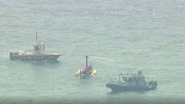 A helicopter carrying Shane McMahon made an emergency ocean landing on Wednesday. (CBS)