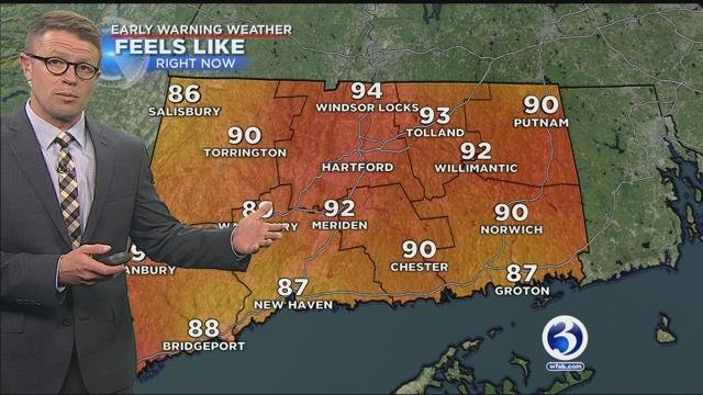 Heat wave today, strong storms possible tonight