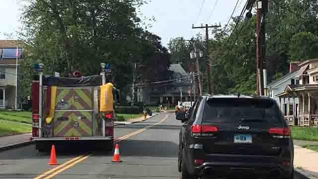 Crews responded to a natural gas leak in Vernon on Thursday (WFSB)