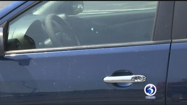 A man was driving with his children when his car was shot at by a bb gun. (WFSB)