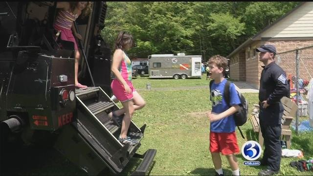 Police hang out at Channel 3 kids camp