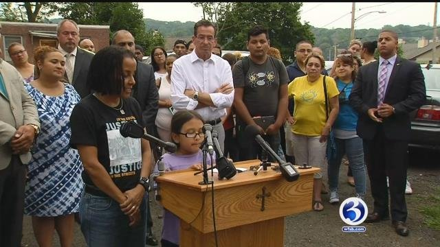 Norwalk resident Nury Chavarria was set for deportation and now seeks sanctuary at church in New Haven. (WFSB)