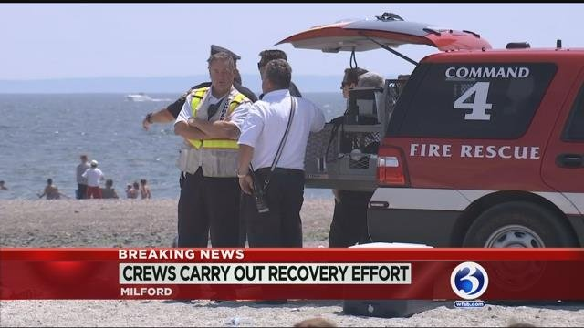 Milford recovery operation underway for missing swimmer