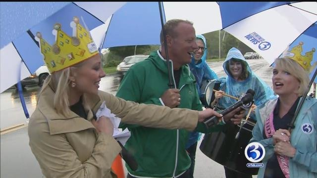 The 50th birthday parade for Irene O'Connor stepped off around 7 a.m. on Monday. (WFSB)
