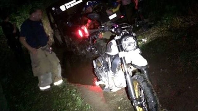 Firefighters rescued an injured dirt biker on Monday night. (Thomaston Volunteer Fire Department)
