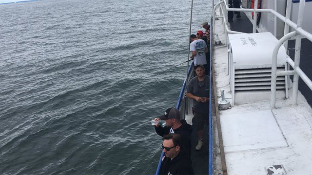 Campers from the Channel 3 Kids Camp took part in the 2nd annual Kids Camp Fishing Tournament in Waterford on Tuesday. (WFSB)