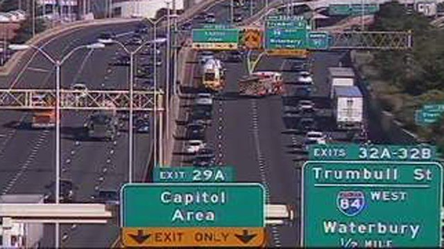 A crash caused several miles of backup on I-91 north in Hartford. (DOT)