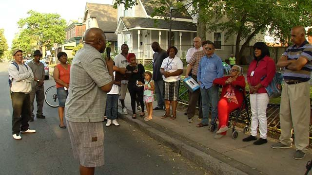 An anti-violence vigil was held on Wednesday evening in Hartford (WFSB)