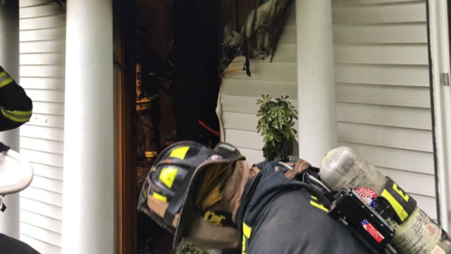 One person was taken to the hospital after a house fire in Hamden on Thursday. (Hamden Fire Department)
