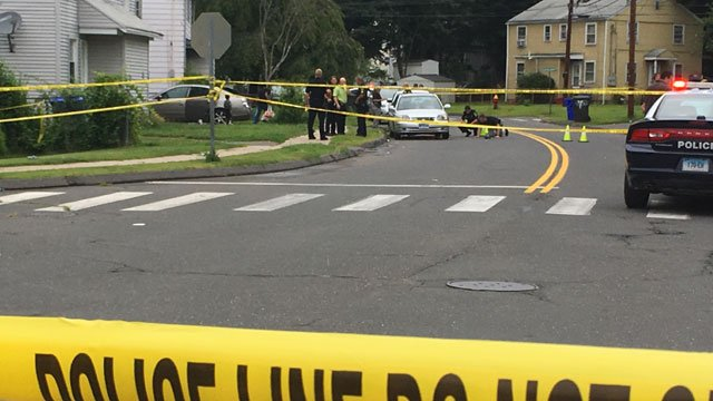 Two people including a five-year-old boy were shot in East Hartford on Thursday (WFSB)