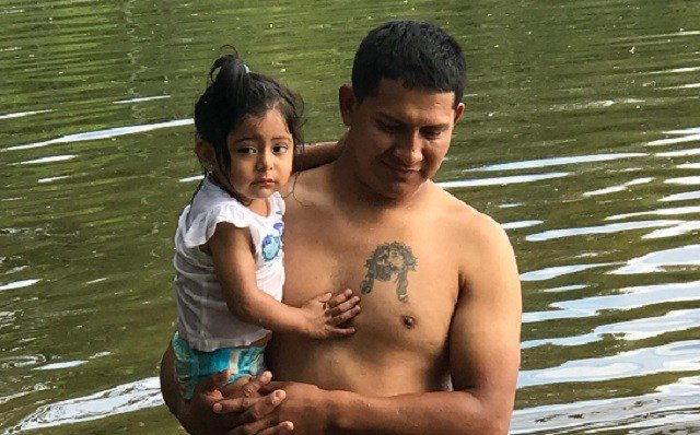 Moments before he went missing, family told Eyewitness News that husband and father, Ramiro Bonilla was playing with his 1-year-old daughter in the water. (WFSB)