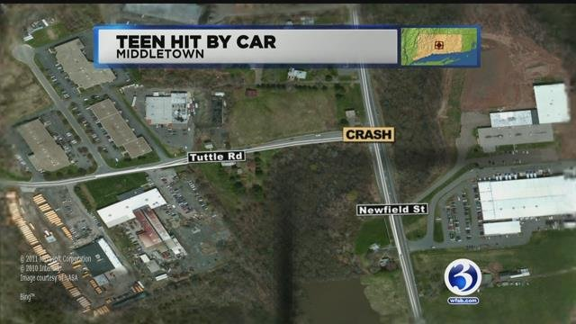 Middletown police are investigating after a teenager was hit by a motor vehicle. (WFSB)