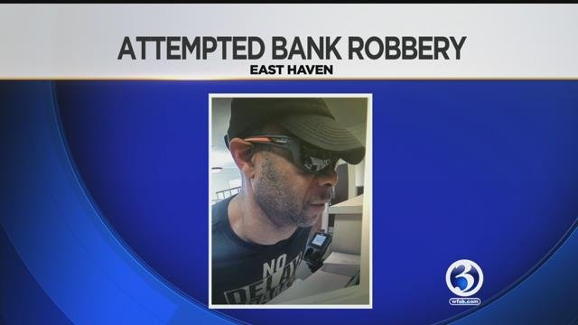 Police in East Haven are asking for help identifying the man in this surveillance picture after an attempted bank robbery. (East Haven Police Department/WFSB)