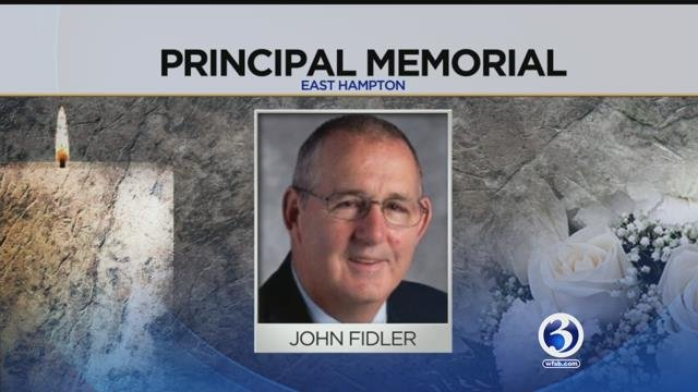 People are remembering principal John Fiddler. (WFSB)
