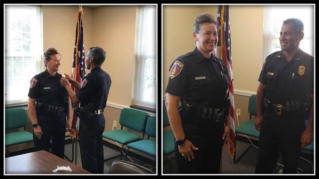 The first female officer in Somers was sworn in on Monday (Town of Somers)