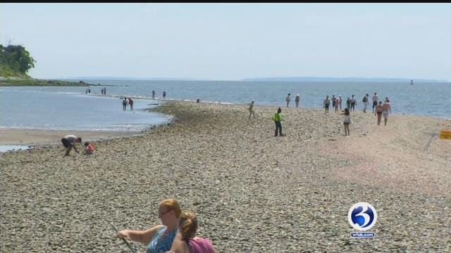 The sandbar in Milford has become a concern among visitors (WFSB)