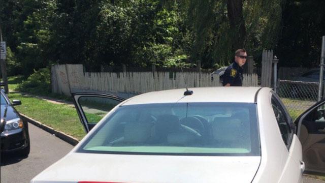 Hartford police recovered 16 stolen vehicles on Monday. (@LtFoley)