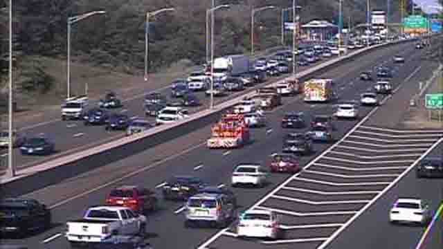 Heavy delays were reported on I-95 north in Branford (CT DOT)