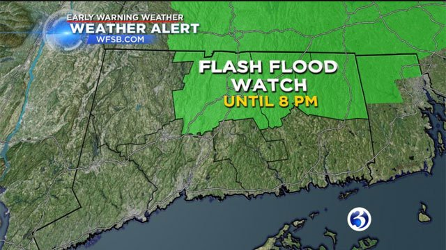 Flash flood watch issued for multiple counties in MA