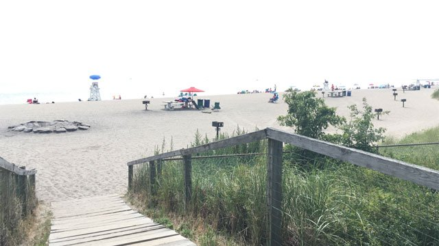 Police are searching for the man responsible for a sex assault near Jennings Beach on Tuesday morning. (WFSB)