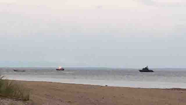 Search boats were seen in the water in Stratford (WFSB)