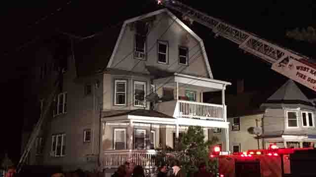 Eight people were displaced by a fire in West Haven (WFSB)