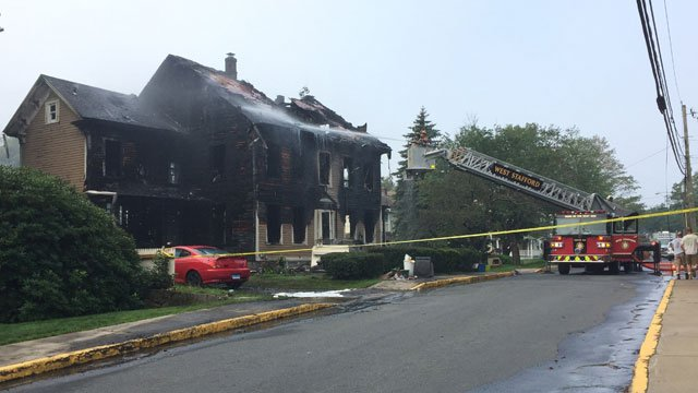 Eleven people are displaced after a house fire in Stafford on Thursday morning. (WFSB)