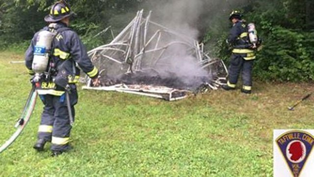 Fire officials are investigating a suspicous fire. (Taftville Fire Company Facebook)