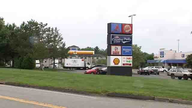 Police were called to the Willington truck stop on Monday (WFSB)