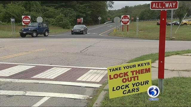 Signs have popped up all over Marlborough (WFSB)