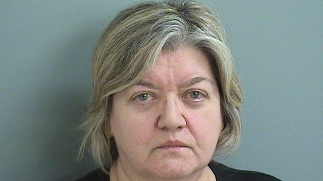 Maria Bourlogiannis is accused of embezzling $40,000 from the Plainville Board of Education, police said. (Plainville police)
