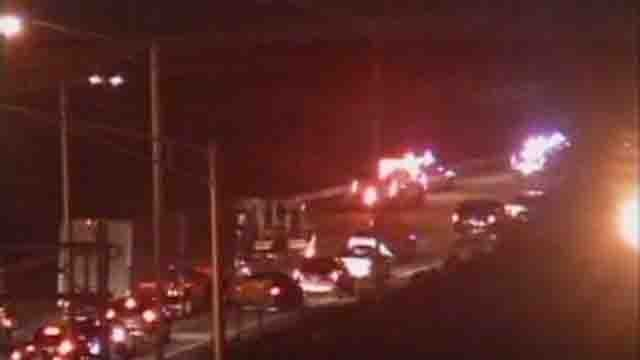A multi-car crash closed some lanes on I-84 west in Hartford (CT DOT)